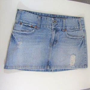 American Eagle Distressed Denim Skirt